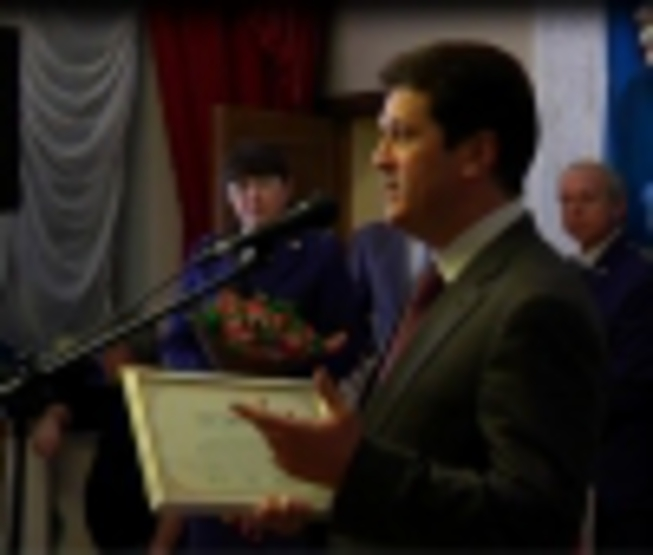 Ilsur Metshin at a solemn meeting on the occasion of Day of Prosecutor of Russian...