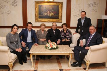 Ilsur Metshin met with the family of Boris Yeltsin, the first President of Russia