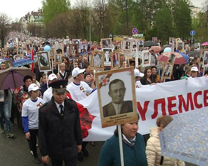 "The action ""Immortal Regiment"" in Kazan gathered about 120 thousand people"