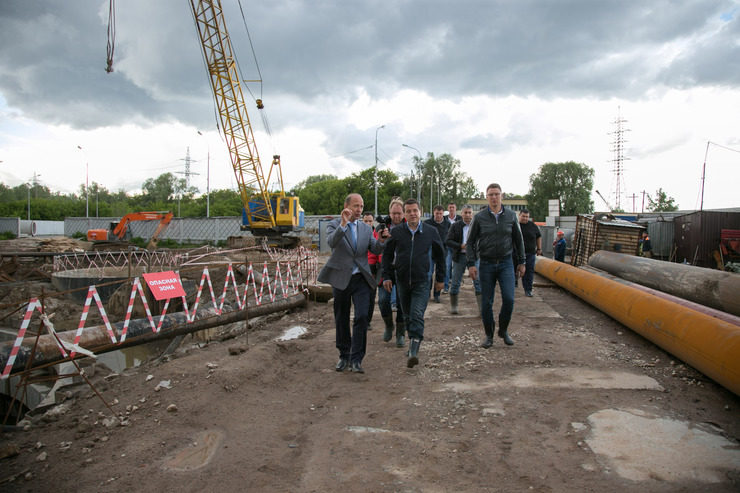 "I. Metshin inspected the construction progress of the SPS ""Zarechnaya"""