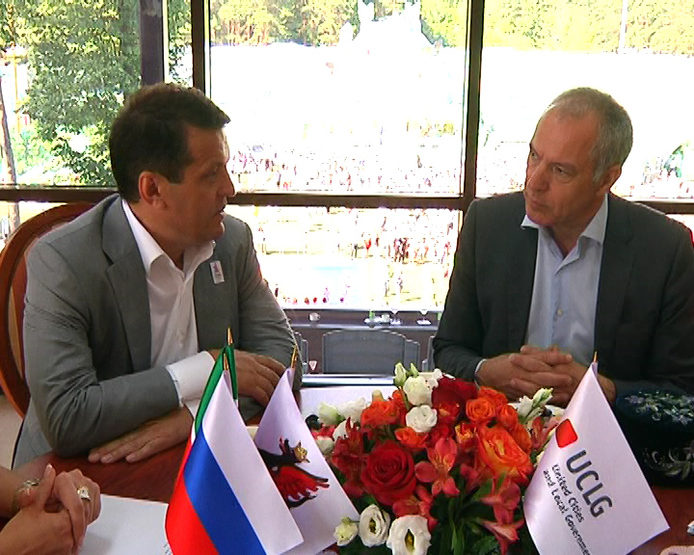 The meeting of the Mayor of Kazan with the General Secretary of the European Branch of the UCLG