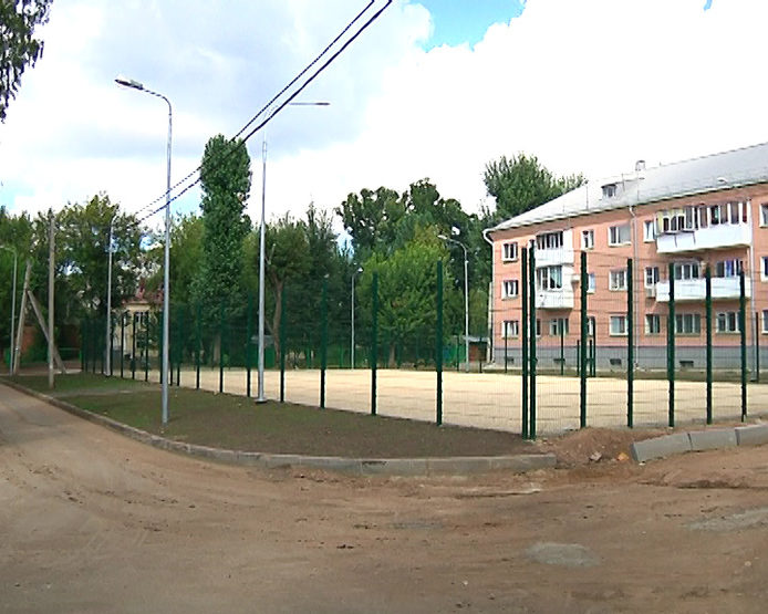 The football field will open in the yard of the house №27 on Daurskaya Street