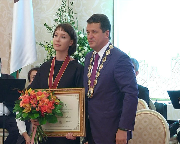 Honorary citizens of the city were honored in the Kazan City Hall, 08/30/2017