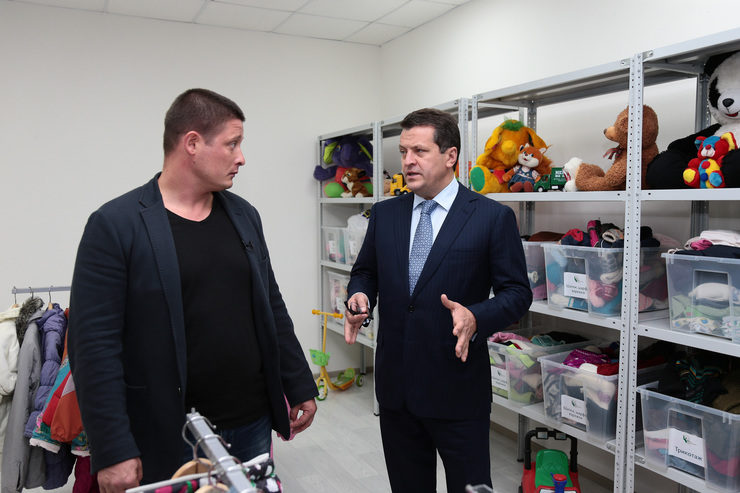 "Ilsur Metshin inspected the new premises of the charitable warehouse ""Good Hands"""