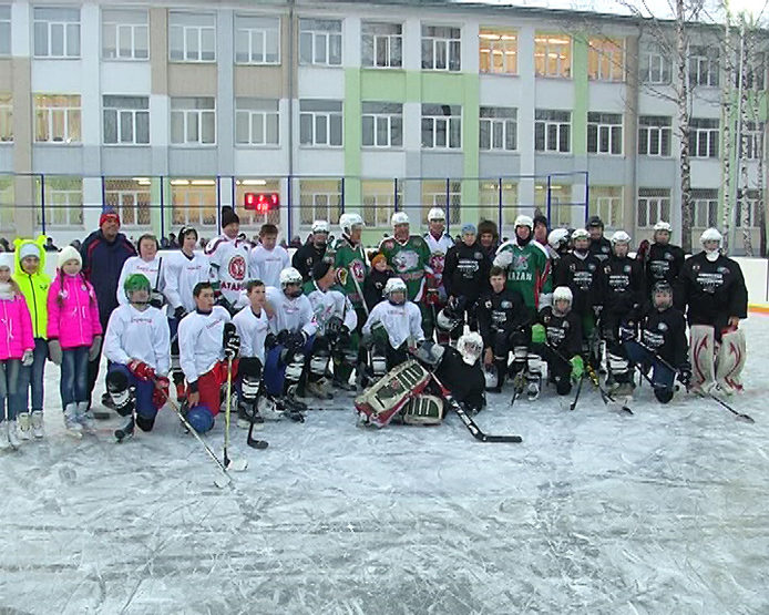 The new hockey box opened at the territory of the gymnasium №4