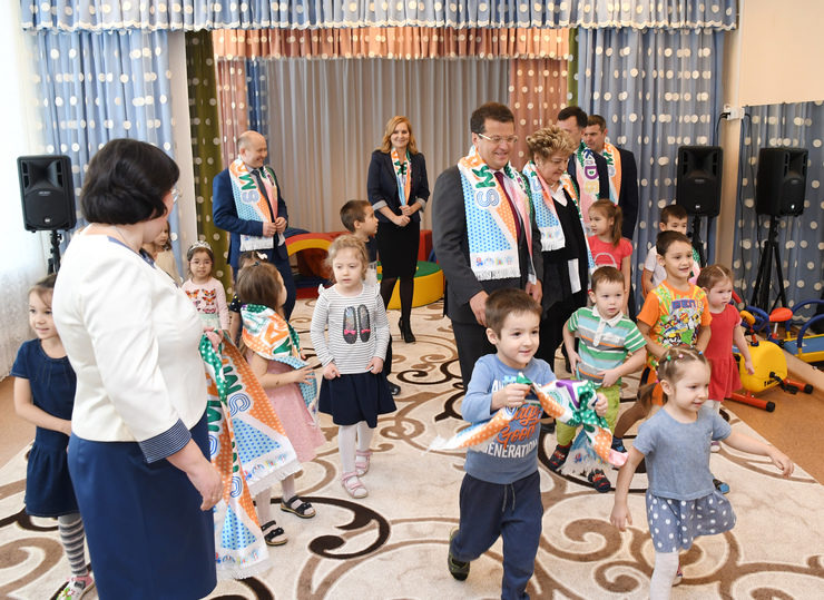 "I. Metshin inspected the overhauled kindergarten ""Smart Kids"" in the Sovetsky district of Kazan"