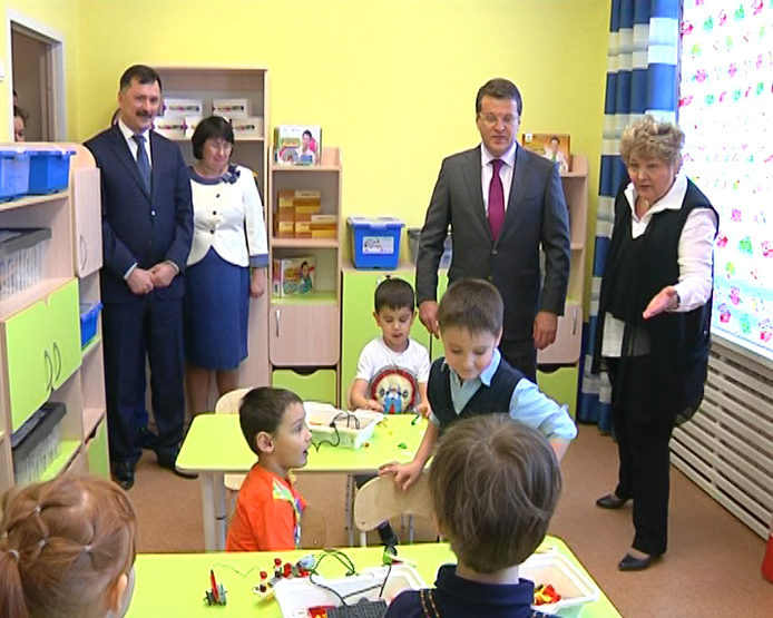 "I. Metshin visited the kindergarten ""Smart Kids"""