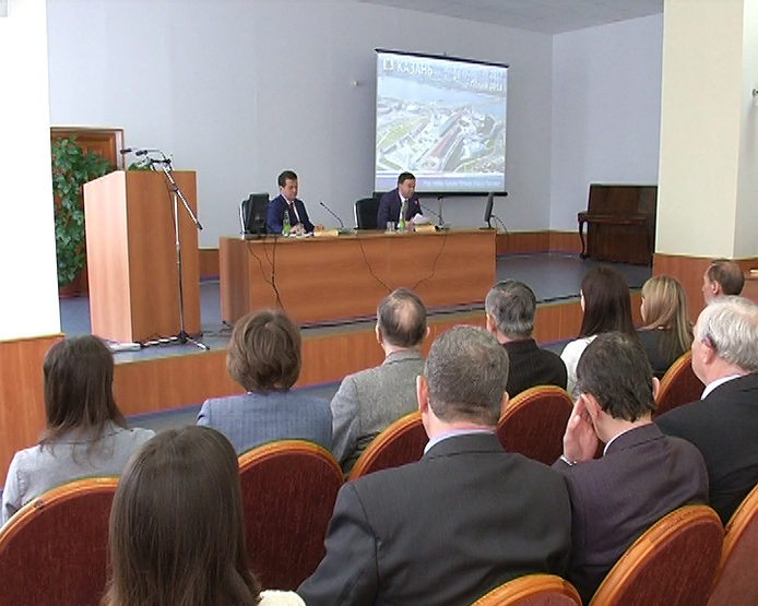 "I. Metshin met with the staff of the OAO ""Elektropribor"""