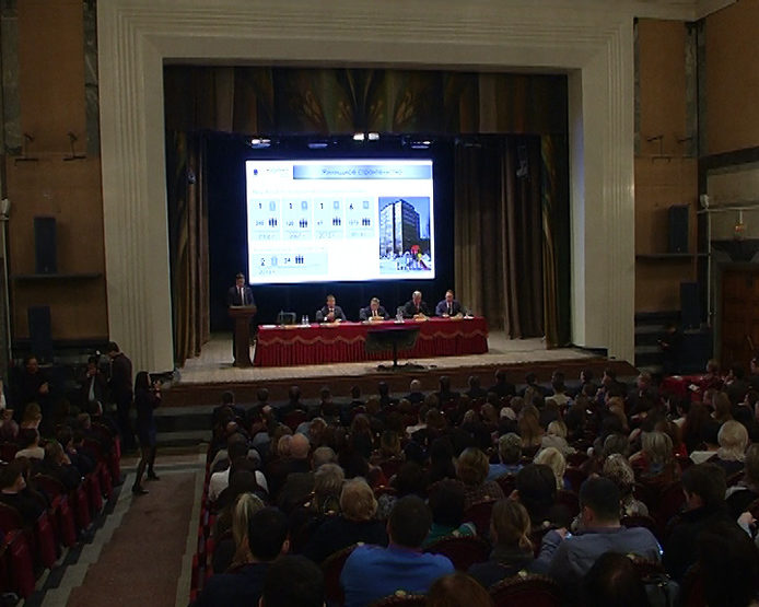 The meeting with the residents of Yudino and employees of the Gorky Railway