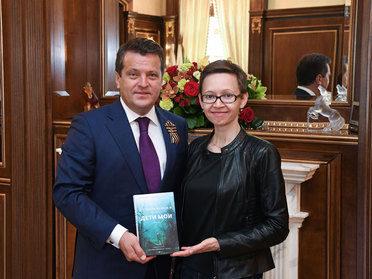 Ильсур Метшин встретился с казанской писательницей Гузель Яхиной