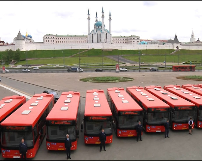 "Motor transport enterprises of Kazan received 94 new buses ""MAZ 203"""