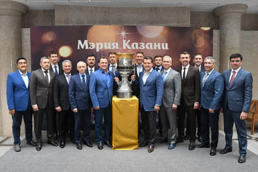 The Gagarin Cup was welcomed in the Kazan City Hall