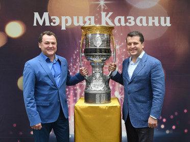 В Мэрии Казани встретили Кубок Гагарина