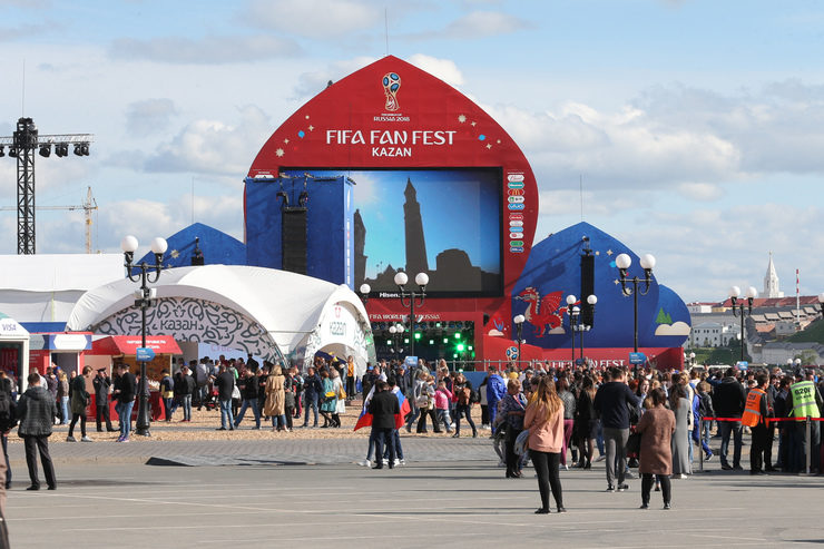 150 thousand citizens and guests of Kazan visited the Fan Fest site for 4 days of the World Cup