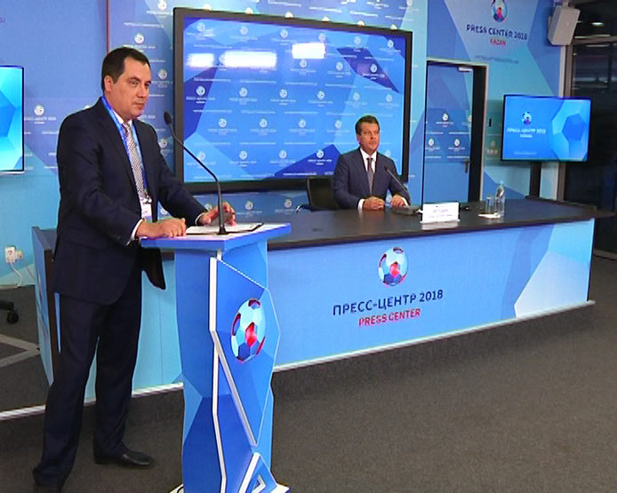 The press conference with the Mayor of Kazan in the IT-park, 06/18/2018