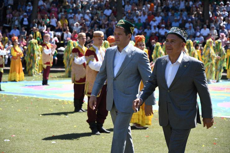 В Казани Сабантуй отпраздновали с колумбийскими болельщиками и под звуки тальянки