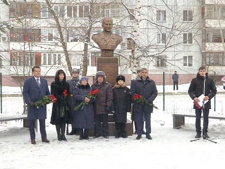 The opening of the monument to the Hero of Russia Marat Akhmetshin, 12/10/2018