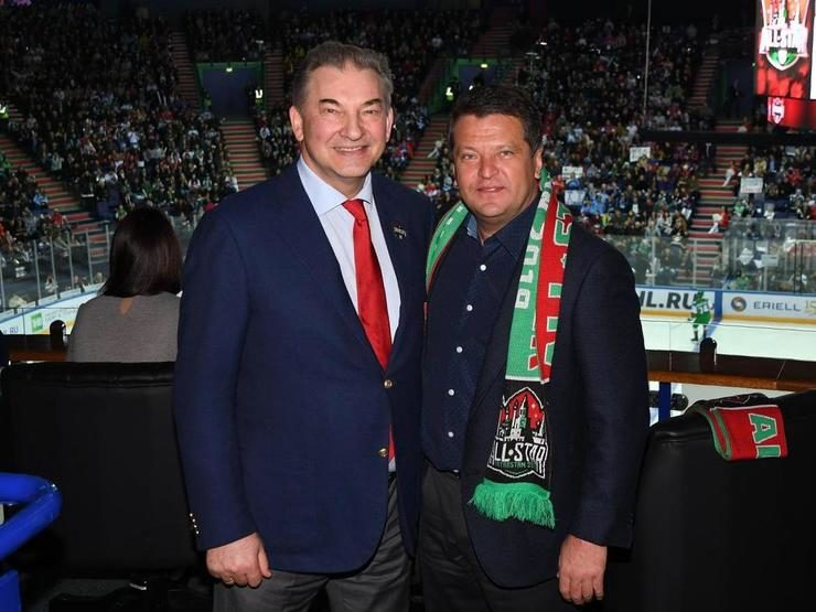 Ilsur Metshin attended the KHL stars match