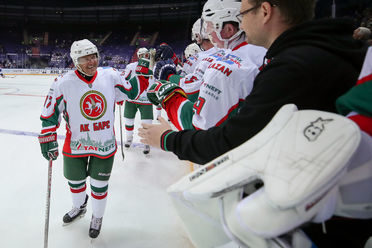 "Ilsur Metshin played in the match of veterans of the ""Ak Bars"" and the KHL"