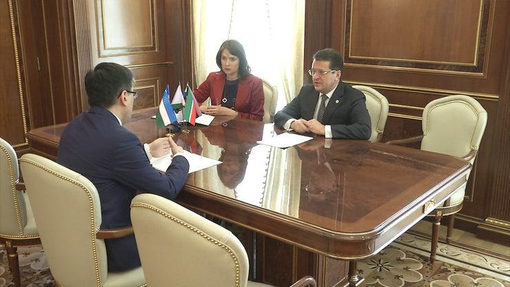 I.Metshin met with General Consul of Uzbekistan in Kazan