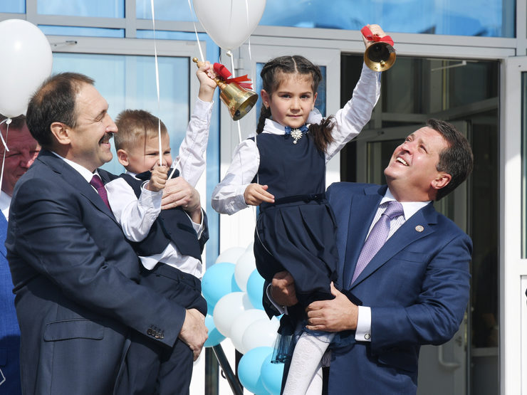 I.Metshin about the opening of two new schools