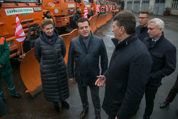 Press tour dedicated to the transition of the road network of Kazan to the winter operation mode