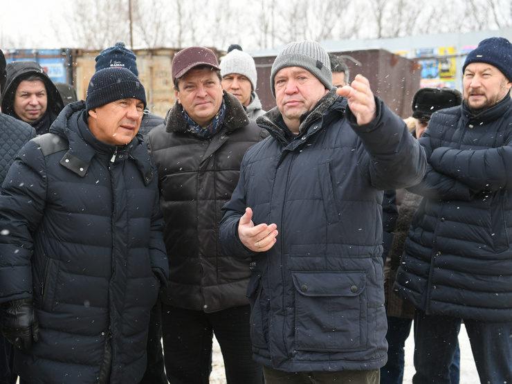 Президент РТ осмотрел ряд строящихся объектов Казани