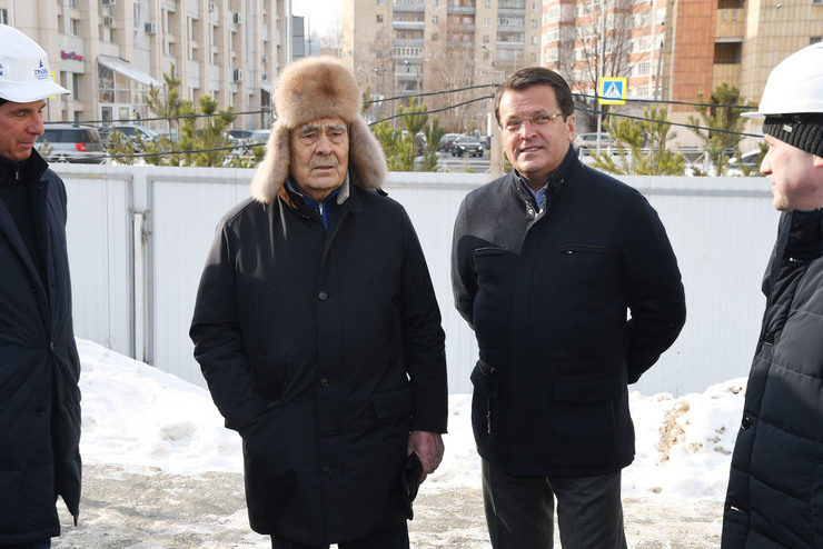 M.Shaimiev and I.Metshin visited the construction site of polylingual educational complex Adymnar