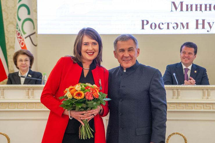 Рустам Минниханов вручил республиканские награды на XXXVIII сессии Казгордумы
