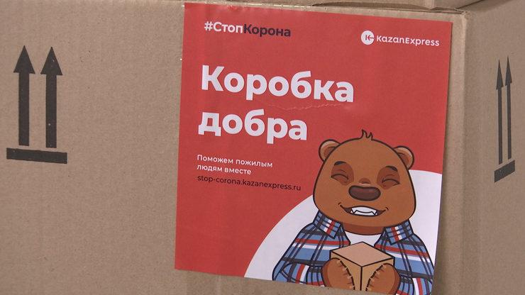Нуждающиеся пенсионеры Казани получат 10 тыс. продуктовых «Коробок добра»
