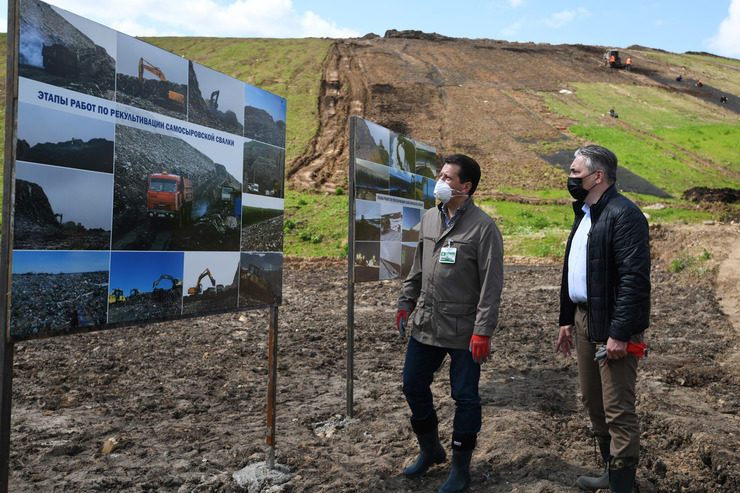 The biological stage of reclamation is being completed at the Samosyrovo waste dump