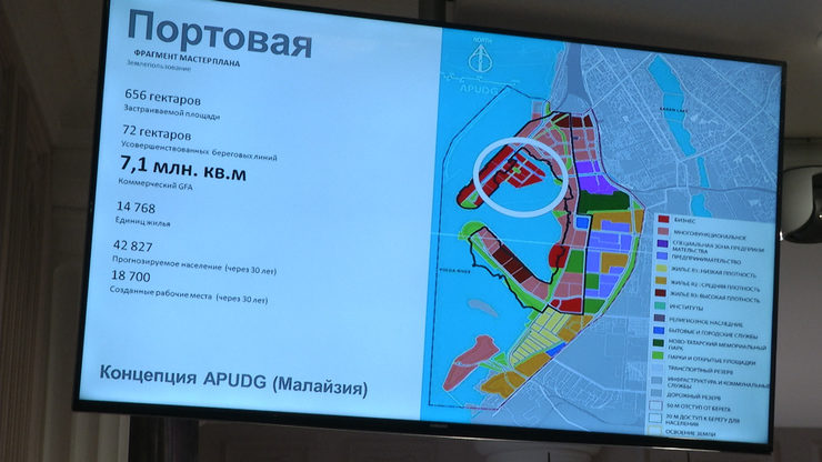 The concept of complex renovation of the territory near the river port was presented in Kazan