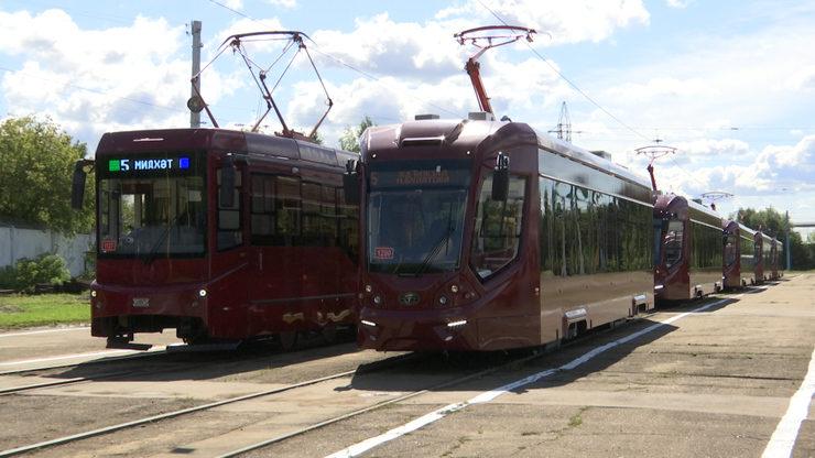 К концу августа на маршрут №5 в Казани выйдут 18 новых трамваев