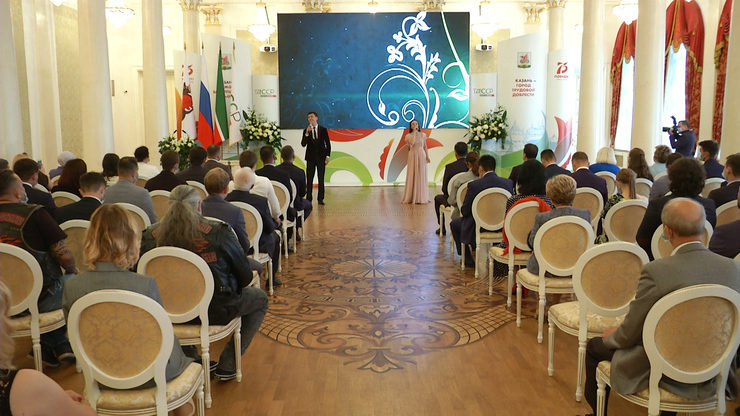 The volunteers participated in the campaign #Myvmeste were awarded at the Kazan City Hall