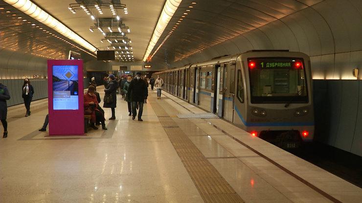 В казанском метро появился новый поезд «Москва»