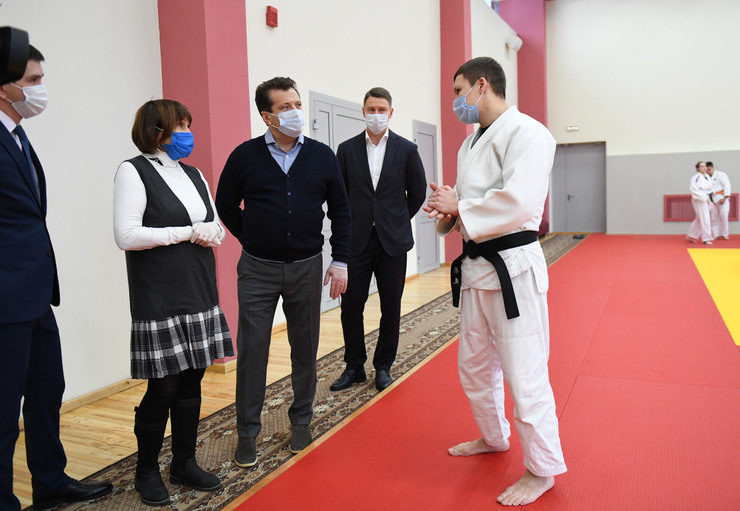 The judo hall and running tracks were renovated at the Tasma Olympic reserve sports school in Kazan