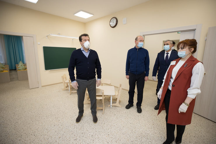 I.Metshin visited the new kindergarten №15 in the Vakhitovsky district