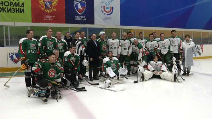 Friendly match of Tatarstan hockey veterans at the Zilant Sports Complex