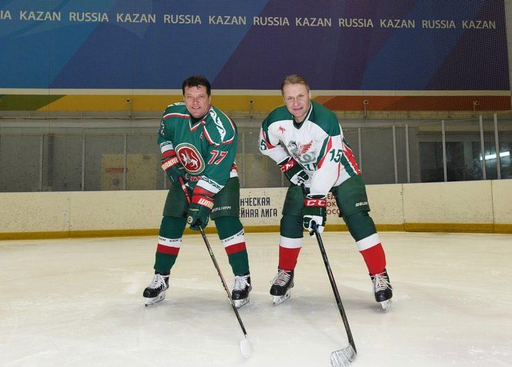 Товарищеский матч ветеранов татарстанского хоккея в СК «Зилант»
