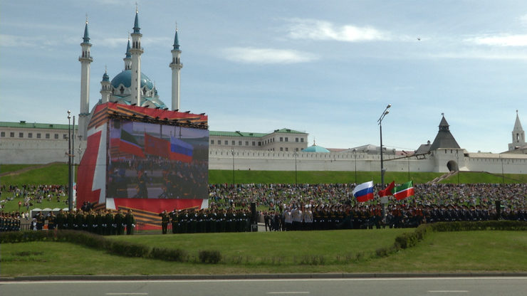 A parade marking the 76th anniversary of the Victory was held in Kazan