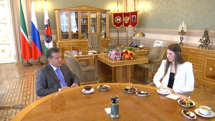 Ильсур Метшин встретился с олимпийской чемпионкой Мартой Мартьяновой