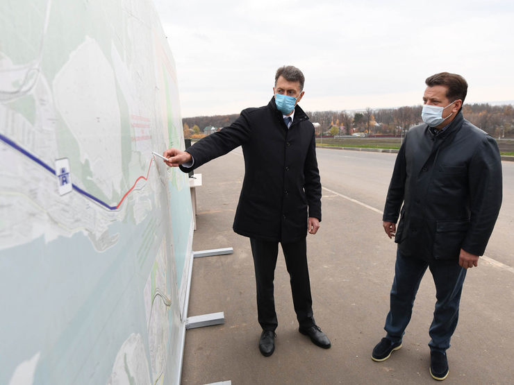 The construction of the first section of the Gorky highway relief road completed by 90%